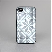 The Knitted Snowflake Fabric Pattern Skin-Sert Case for the Apple iPhone 4-4s