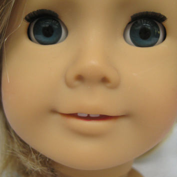 American Girl Doll Head Only Used Incomplete For OOAK or Parts TLC AG Doll Head Hair Cut Just Like You 27 Blonde Hair Blue Eyes