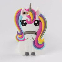 3D Unicorn Pony Soft Case for iPhone