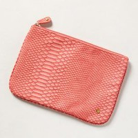 Everglades Embossed Pouch by Anthropologie Coral One Size Clutches