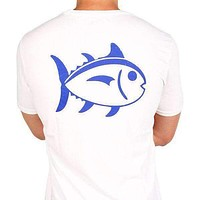 University Outline Tee in White by Southern Tide