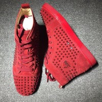 DCCK Cl Christian Louboutin Louis Spikes Style #1830 Sneakers Fashion Shoes