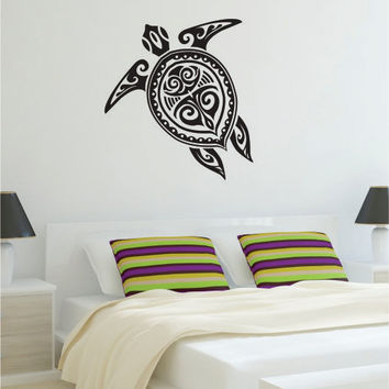 Turtle Version 1 Tribal Design Decal Sticker Wall Vinyl Art Decor Home