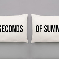 5 Seconds of Summer Pillowcases - 5SOS Hand Pulled Screen Printed Pillow Case Set for Double or Queen Sized Bed