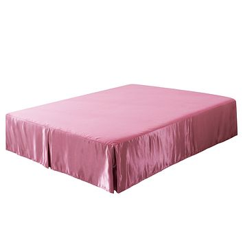 Tache Satin Pink Royal Princess Dream Bed Skirt (BM1227)