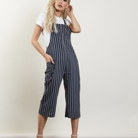In A Minute Striped Jumpsuit