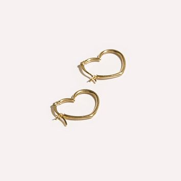 Heart Seam Hoops