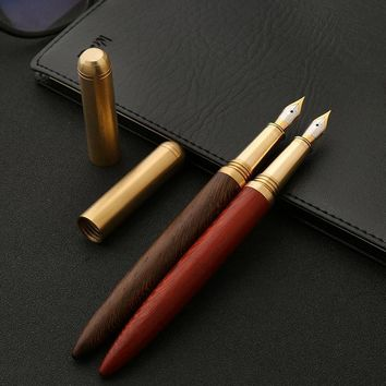 Solid Wood 0.7mm Fountain Pen