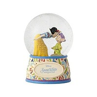 Disney Snow White and Dopey Waterball Jim Shore New with Box