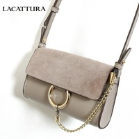 LACATTURA Women Messenger Bag Luxury Bracelet Handbag Designer Leather Crossbody for Lady Shoulder Bags Mini Clutch High Quality