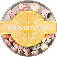 Fabric Thumbtacks - Prairie Flora