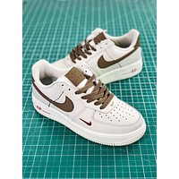 Nike Air Force 1 07 Premium White Light Brown Fashion Shoes