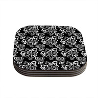 "Mydeas ""Sweetheart Damask Black & White"" Pattern Coasters (Set of 4)"