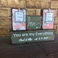 Unique wedding gift for couple, rustic wedding, floral wedding, floral print, love sign, bridal shower gift, floral shower theme, bridesmaid
