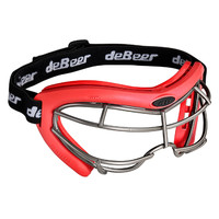 deBeer Lacrosse Vista SI Goggle Red Frame and Silver Wire