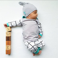 2017 autumn style infant clothing baby boy clothes cotton long sleeve 3pcs/suit  newborn toddler outfits baby boy clothing