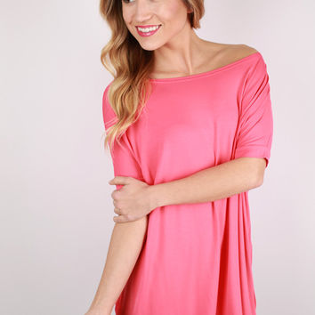 PIKO Short Sleeve Tee in Coral