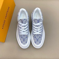 lv louis vuitton men fashion boots fashionable casual leather breathable sneakers running shoes 772