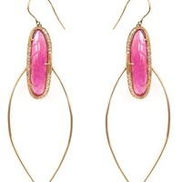 Jacquie Aiche Pink Tourmaline Hoop Earrings - Traffic Women - Farfetch.com