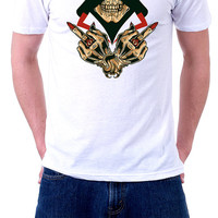 Mens Graphic Tee | Middle Fingers Up | Sublimated Shirts | Formation