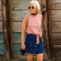 BDG Denim Button-Front Skirt - Urban Outfitters