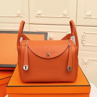 HCXX 19June 725 Hermes Lindy Bag Easy Elegant Fashion Lady's Handbag orange