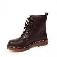 Platinum Laced Boots $40
