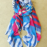 Nautical Stripe Scarf [3822] - $14.00 : Vintage Inspired Clothing & Affordable Fall Frocks, deloom   Modern. Vintage. Crafted.