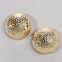 Gold Oversized Button Studs