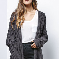 LA Hearts Shaker Stitch Open Front Cardigan at PacSun.com
