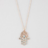 Full Tilt Hamsa Necklace Antique Gold One Size For Women 25910662301