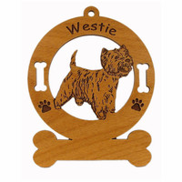 4216 Westie Standing  2 Personalized Dog Ornament