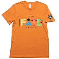 "It's Your FATE to be Different ""Martin"" Tee - Orange"