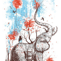 A Happy Place Art Print by Norman Duenas | Society6