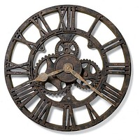 """22""""H Allentown Wall Clock Rusted Antique"""