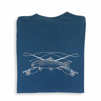 Fly Fishing Adult Short Sleeve Pocket Tee