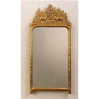 Antique Gold Deer Mirror (Large or Small)