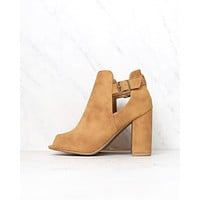 Distressed Peep Toe Booties in More Colors