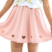 Heart Cut Out Skirt