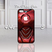 Iron Man Suit, Design For iPhone 4/4s Case or iPhone 5 Case - Black or White (Option)