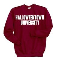 Halloweentown University Sweatshirt Disney Halloween Shirt Funny Halloween Clothing Tumblr Sweatshirt Witches Skeletons Brooms Costume