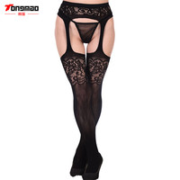 2016 Hollow Out Tights Lace Sexy Stockings Female Thigh High Fishnet Embroidery Transparent Pantyhose Women Black Lace Stocking
