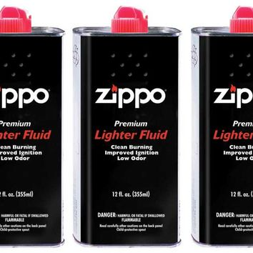 Zippo Lighter Fluid 12 oz - 3 Can Pack - Ships by Ground Only