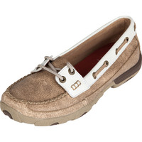 Women's Twisted X Dusty Tan and White Boat Shoe