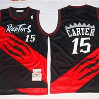 Best Deal Online Mitchell & Ness Hardwood Classics NBA Basketball Jerseys Toronto Raptors #15 Vince Carter