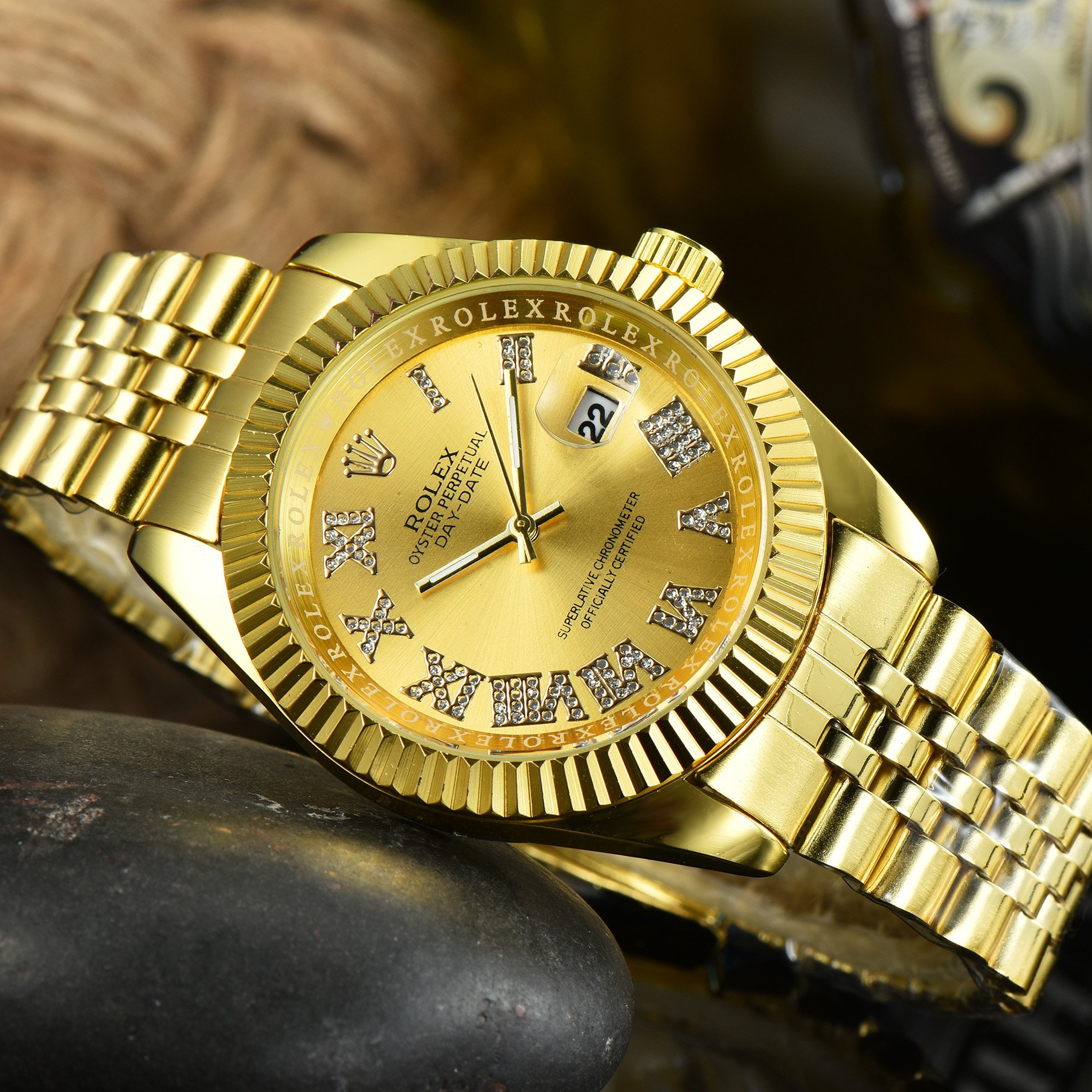 Image of Rolex luxury men's and women's casual business watches