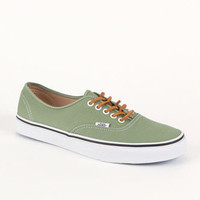 Vans Authentic Brushed Green Twill Shoes at PacSun.com