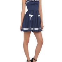 Hell Bunny Blue Sailor Mini Dress | Hot Topic