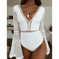 Bell Sleeve Lace Bodysuit