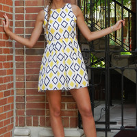 Time After Time Dress, Yellow